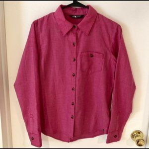 The North Face Rose Button Front Split Back Shirt